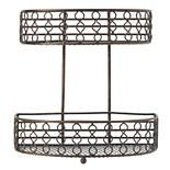 Scott Living Oasis 2-Tier Flat-Back Basket