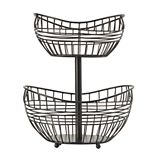Scott Living Luxe 2-Tier Basket