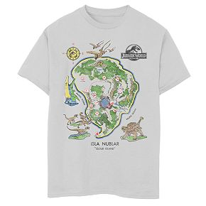 Boys 8-20 Jurassic World Isla Nublar Map Tee