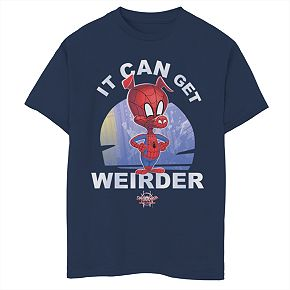 "Boys 8-20 Marvel Comics Spider-Man ""It Can Get Weirder"" Tee"