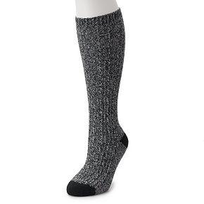 Women's Cuddl Duds Chain Stitch knee High Socks