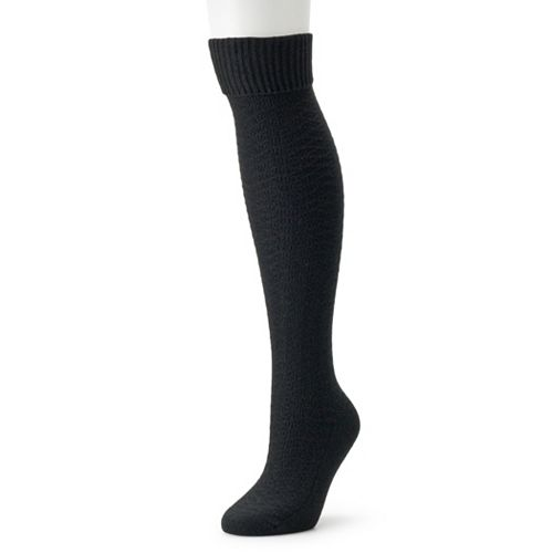 Women's Cuddl Duds Space Dye Knee High Socks