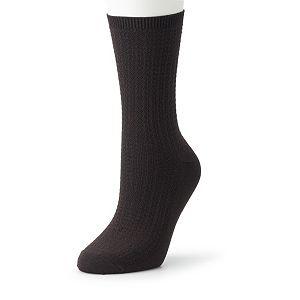 Women's Cuddl Duds Link Midweight Crew Socks