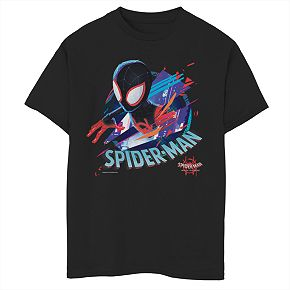 Boys' 8-20 Marvel Spider-Verse Cracked Spider Graphic Tee