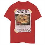 Boys' 8-20 Jurassic Park Missing Pet Graphic Tee