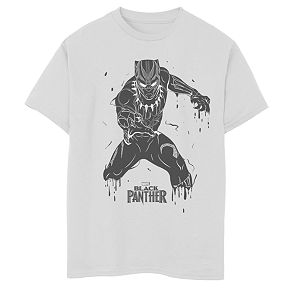 Boys' 8-20 Marvel Black Panther Splattered Graphic Tee