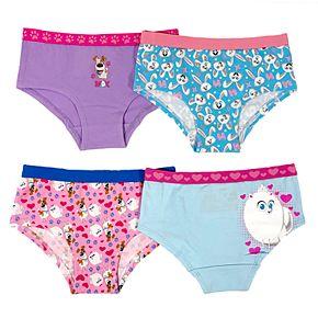 Girls 4-8 Secret Life of Pets 4-Pack Hipster Panties