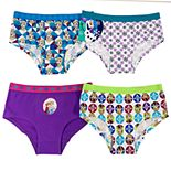 Disney's Frozen Anna & Elsa Girls 4-8 4-Pack Hipster Panties
