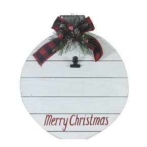 """St. Nicholas Square® """"Merry Christmas"""" Wooden Photo Holder"""