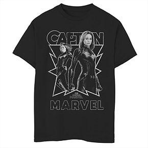 Boys' 8-20 Captain Marvel Graphic Tee
