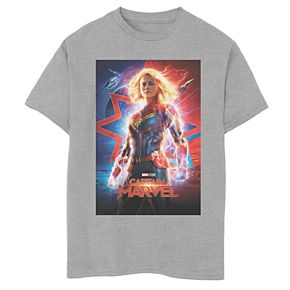 Boys' 8-20 Captain Marvel Poster Graphic Tee