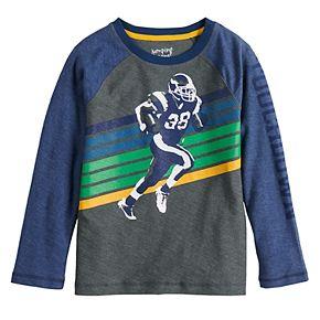 Boys 4-12 SONOMA Goods for Life? Long-Sleeve Raglan Football Graphic Tee