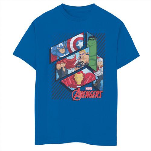 Boys' 8-20 Marvel Avengers Geo Panels Graphic Tee