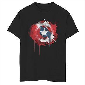 Boys' 8-20 Marvel Avengers Ink Shield Graphic Tee