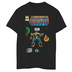 Boys' 8-20 Marvel Thanos Comic Cover Graphic Tee
