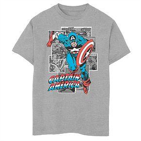 Boys' 8-20 Marvel Comic Captain America Graphic Tee