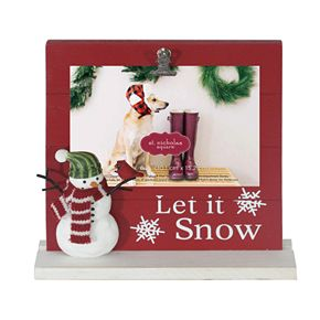"St. Nicholas Square® ""Let it Snow"" Photo holder"
