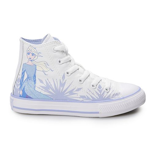 converse white all star hi ii elsa x frozen trainers youth