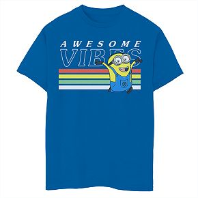 Boys' 8-20 Minions Awesome Vibes Graphic Tee
