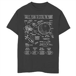 Boys' 8-20 Minions Grus Plans Graphic Tee