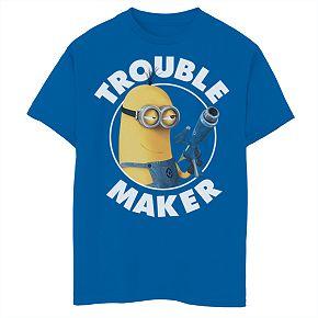 Boys 8-20 Minions Trouble Maker Tee