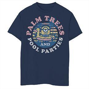Boys 8-20 Minions Palm Tree Tee