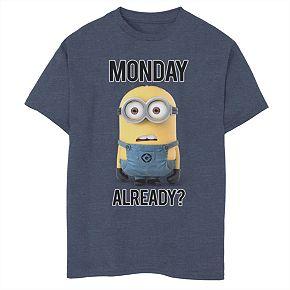 Boys 8-20 Minions Monday Already? Tee