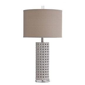 Unbranded Luxemburg White Glaze Ceramic Table Lamp