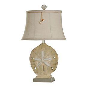 Vipiteno Table Lamp Sandstone and Silver Finish