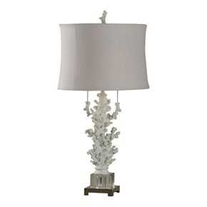Palm Harbor Table Lamp Crystal Glass Body