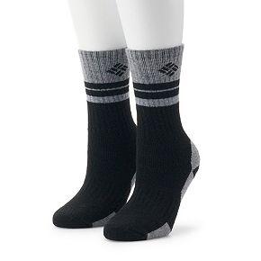 Women's Columbia 2 Pack Striped Wool Crew Socks