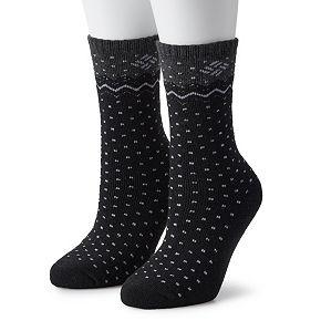 Women's Columbia 2 Pack Dottie Wool Crew Socks