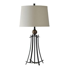 Unbranded Oiled Bronze & Marble Table Lamp