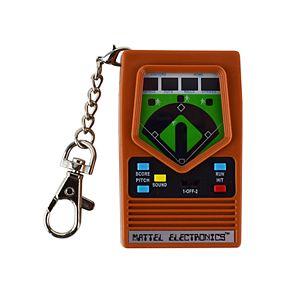World's Coolest Mattel Electronic Games Baseball Keychain