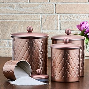 Old Dutch 4-pc. Rose Gold Diamond Canisters