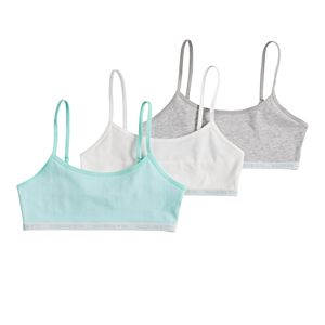 Girls Maidenform 3-Pack Logo Bralettes