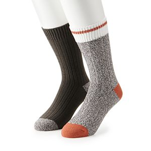 Men's Climatesmart by Cuddl Duds 2-Pack Twist Ribbed Crew Socks