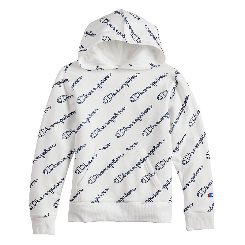 Boys 8 20 Champion All Over Print Fleece Pull Over Hoodie