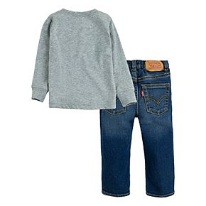 Baby Boy Levi's 12M-24M Sportswear Logo T-Shirt and Stretch Jeans 2-Piece Set