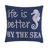 "Atlantis ""Life is Better by The Sea"" Throw Pillow"