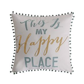 """Olympia """"This is My Happy Place"""" Throw Pillow"""