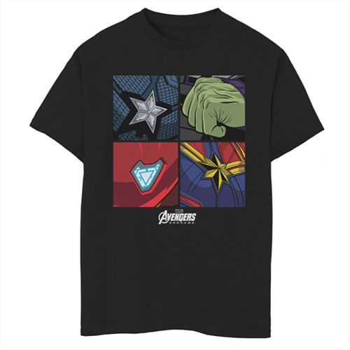 Boys 8-20 Marvel Hero Emblems Tee