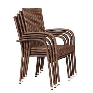 Patio Sense Morgan Outdoor Wicker Chair 4-piece Set
