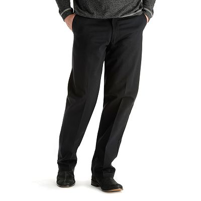 Lee Stain-Resist Casual Relaxed-Fit Flat-Front Pants