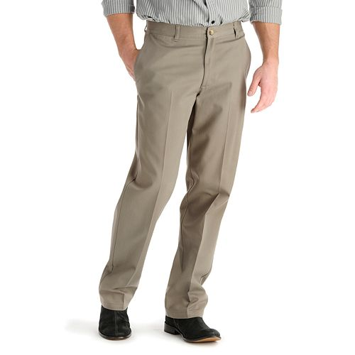 Men's Lee Stain-Resist Casual Relaxed-Fit Flat-Front Pants