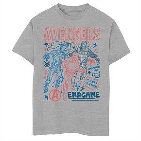 Boys 8-20 Marvel Earths Mightiest Doodles Tee