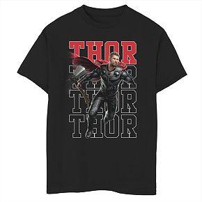 Boys 8-20 Marvel Thor Heroic Shot Tee