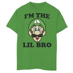 Boys 8-20 Nintendo Super Mario Lil Bro Tee