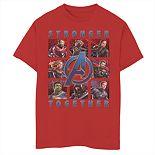 Boys 8-20 Marvel Boxes Full Of Avengers Tee