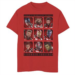 Boys 8-20 Marvel Mightiest Heroes Stack Tee